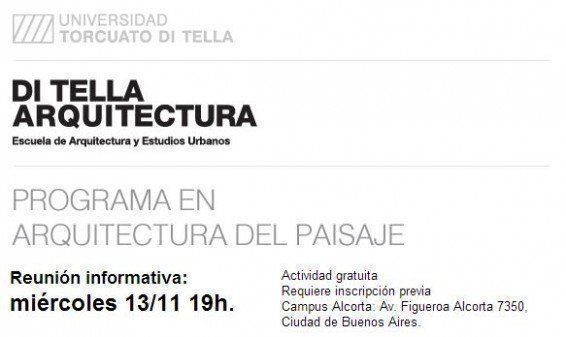 ARQA - Programa en Arquitectura del Paisaje, en la UTDT