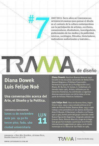 ARQA - Conferencia Trama: Luis Felipe Noé y Diana Dowek, en la FADU