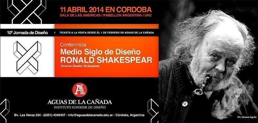 """Conferencia: """"Medio Siglo de Diseño"""" por Ronald Shakespear, en Córdoba"""