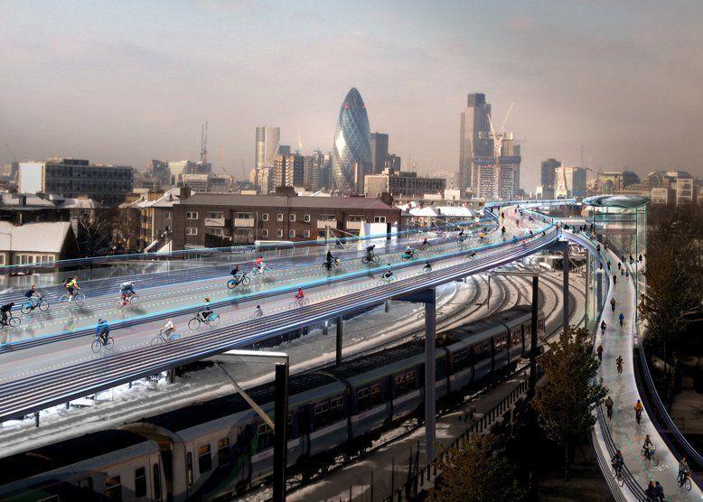 Utopía ciclista, la propuesta de Norman Foster para Londres