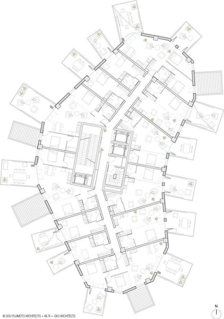 arbre blanc torre de usos m ltiples arqa. Black Bedroom Furniture Sets. Home Design Ideas