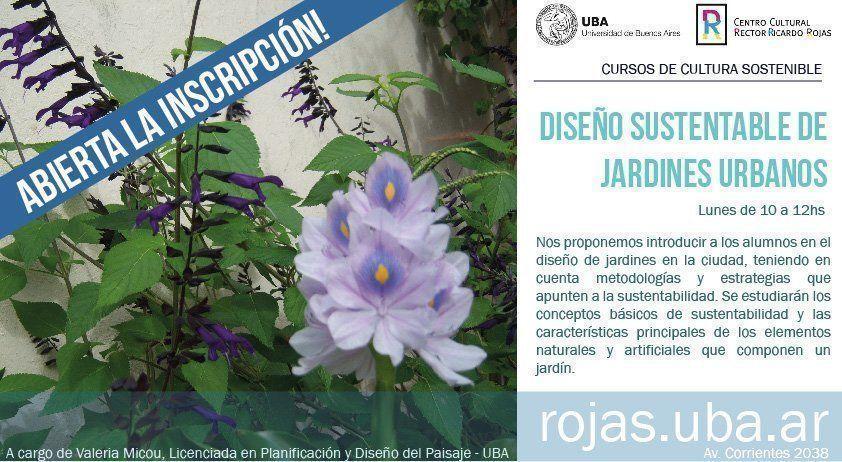 """Curso """"Diseño Sustentable de Jardines Urbanos"""