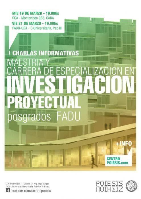 Maestría y Carrera de Especialización en Investigación Proyectual Orientación Vivienda