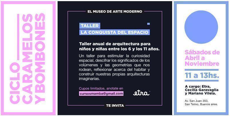 """""""La conquista del espacio"""", taller de arquitectura para niños en el MAMBA"""