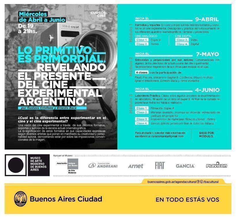 """""""Lo primitivo es primordial"""", curso de cine experimental argentino en el MAMBA"""