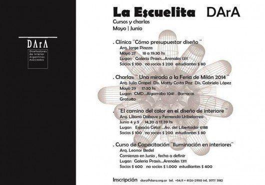 Cursos y Charlas DArA, Mayo - Junio
