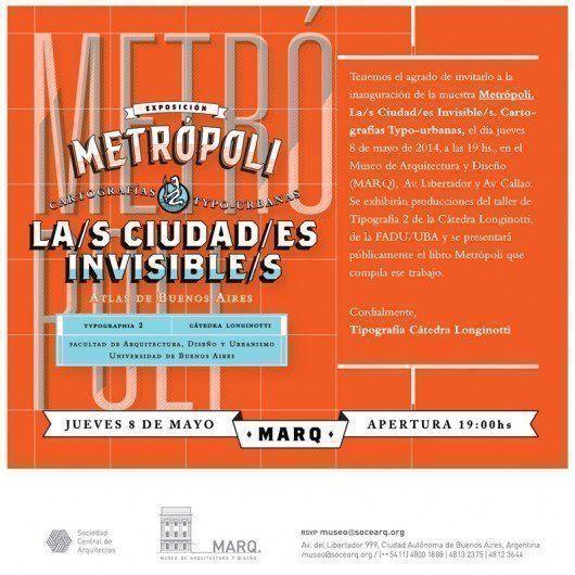 """Exposición: """"Metrópoli - La/s Ciudad/es Invisible/s"""", en el MARQ"""