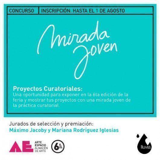 """Concurso """"Proyectos Curatoriales"""", por Arte Espacio y Lluvia Oficina"""