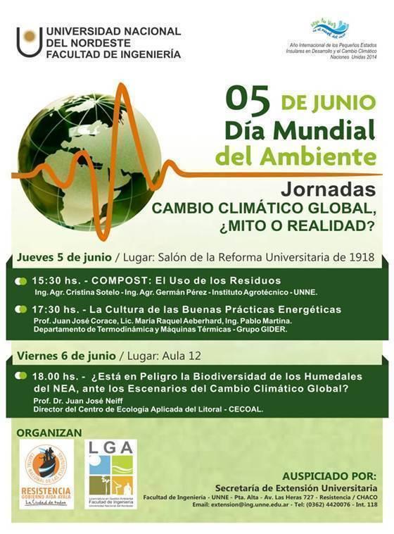 Jornadas sobre Cambo Climático, en la Facultad de Ingeniería UNNE