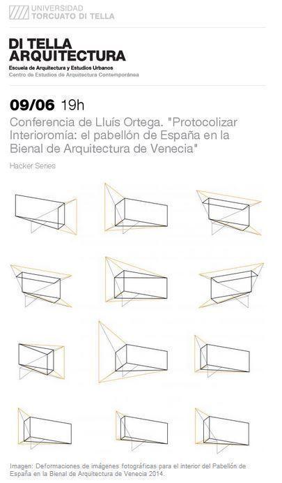 """Conferencia de Lluís Ortega. """"Protocolizar Interioromía: el pabellón de España en la Bienal de Arquitectura de Venecia"""""""