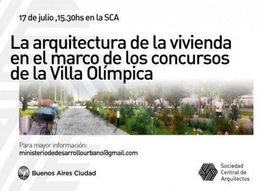 """Jornada """"La Arquitectura de la Vivienda en el marco de los Concursos de la Villa Olímpica"""""""