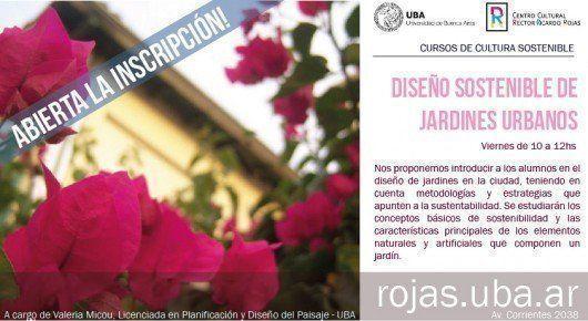 """Curso """"Diseño Sostenible de Jardines Urbanos"""""""