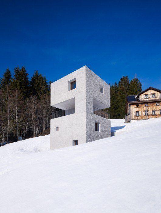 Cabina en la montaña, en Austria