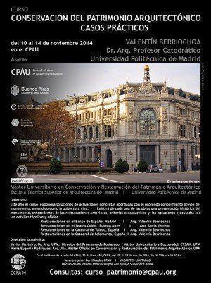 """Curso """"Conservación del Patrimonio Arquitectónico, Casos Prácticos"""", en el CPAU"""