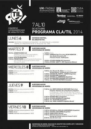 TIL 2014: Congreso Latinoamericano de Arquitectura