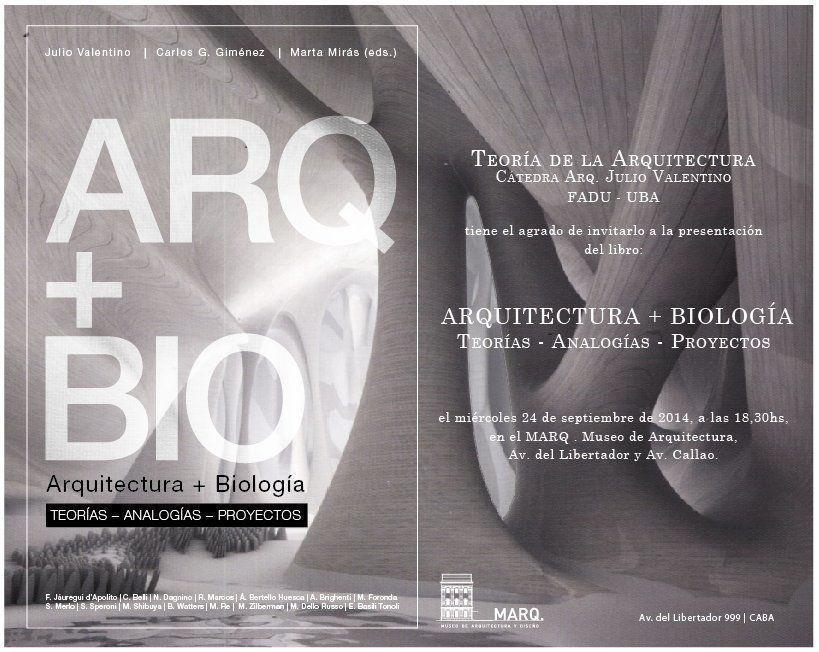 """Presentación del libro digital """"Arquitectura + Biología"""""""