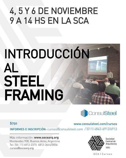 Curso Introducción al Steel Framing, en la SCA