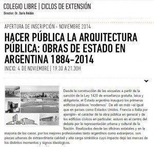 """Seminario: """"Hacer Pública la Arquitectura Pública"""""""