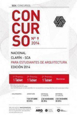Concurso Nacional Clarín – SCA para estudiantes de Arquitectura 2014