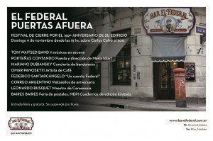 Bar El Federal invita a la fiesta de cierre por el 150º aniversario de su edificio