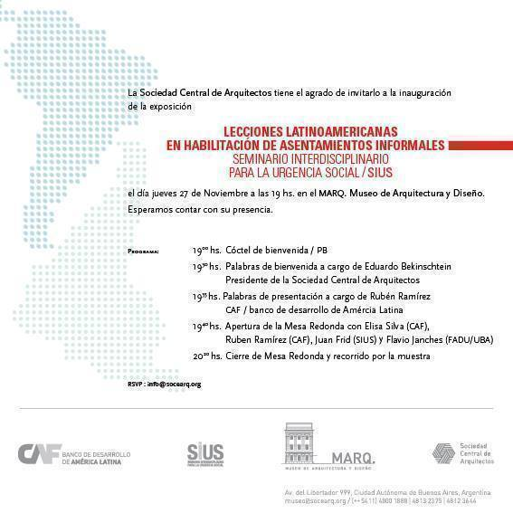 SEMINARIO INTERDISCIPLINARIO PARA LA URGENCIA SOCIAL (SIUS)