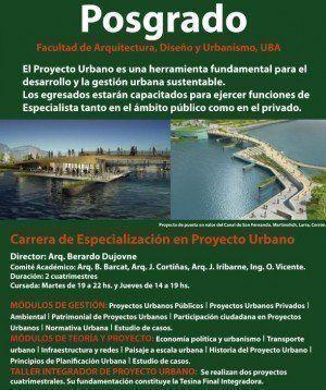 Carrera de Especialización en Proyecto Urbano