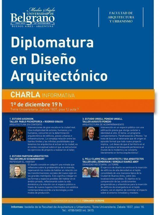 Diplomatura en Diseño Arquitectónico, charla informativa