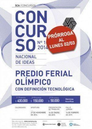 "Concurso Nacional de Ideas con definición tecnológica ""Predio Ferial Olímpico"", prórroga"