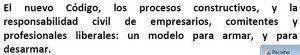 Artículo sobre el nuevo Código Civil y Comercial