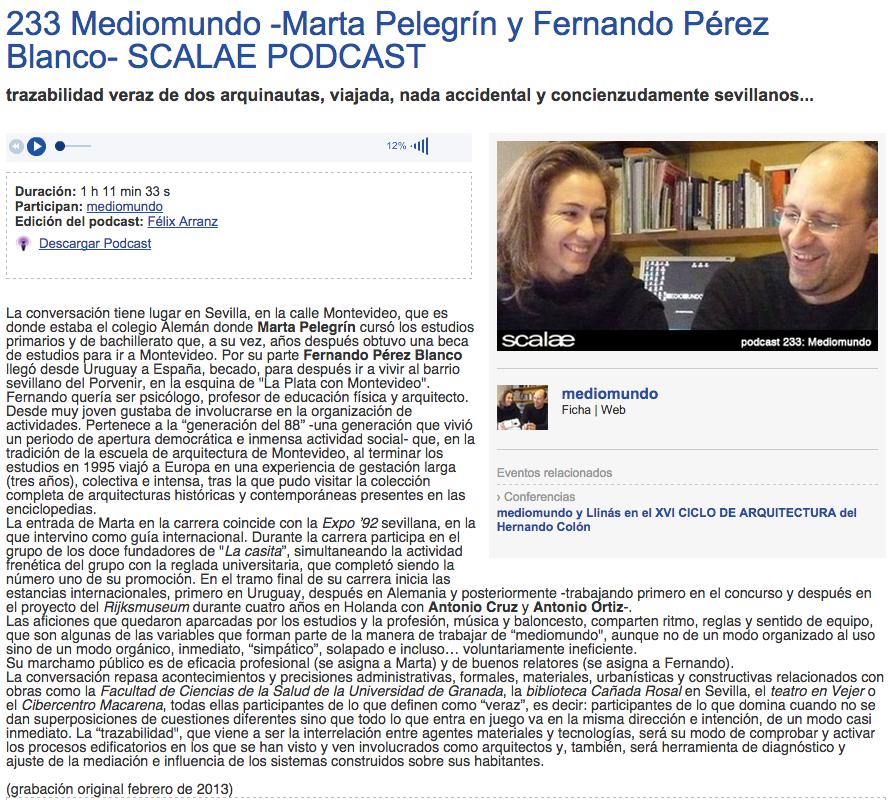 Scalae Podcast: Marta Pelegrín y Fernando Pérez Blanco