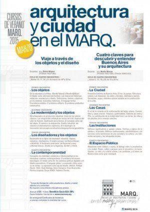 Cursos de Verano MARQ.2O15 – Últimas vacantes