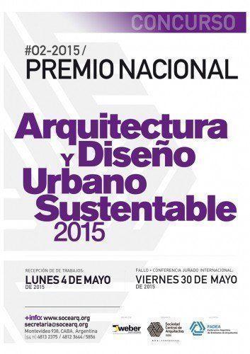 Concurso Premio Nacional de Arquitectura y Diseño Urbano Sustentable 2015
