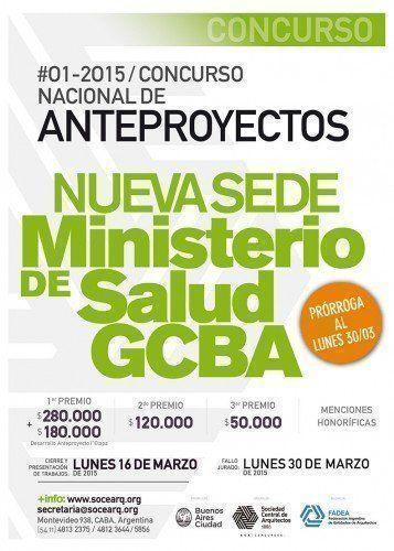 Prórroga Concurso Nacional de Anteproyectos Nueva Sede del Ministerio de Salud GCABA