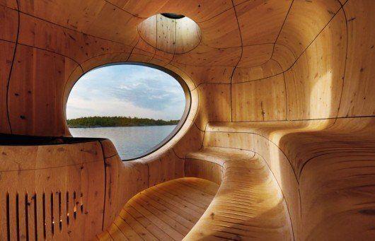 Sauna en la Bahía de Georgia, Canadá