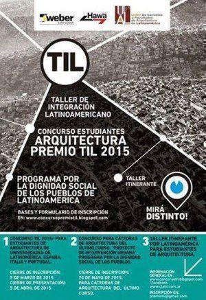 Concurso Estudiantes de Arquitectura Premio TIL 2015