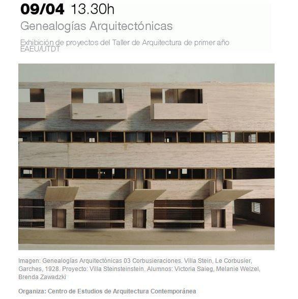 """Exposición: """"Genealogías Arquitectónicas"""", en la UTDT"""