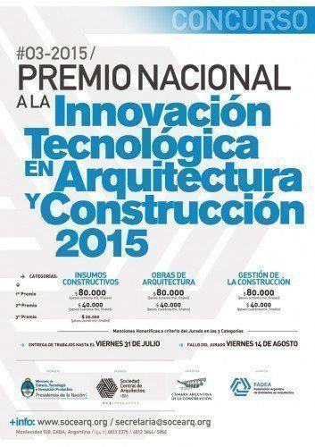 Premio Nacional SCA de Innovación Tecnológica en Arquitectura y Construcción 2015