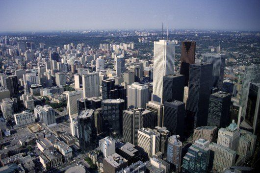 View of downtown Toronto Ontario Canada