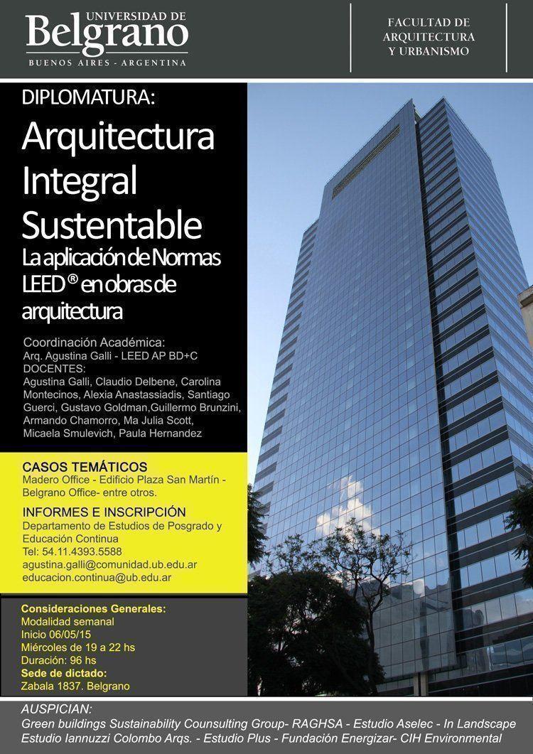 Diplomatura: Arquitectura Integral Sustentable