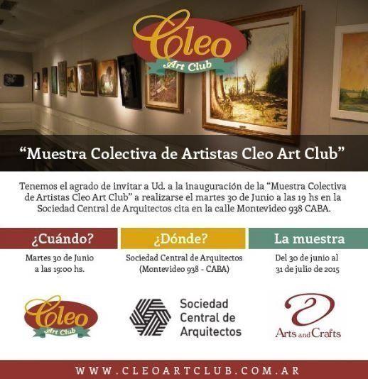 """""""Muestra Colectiva de Artistas Cleo Art Club"""""""