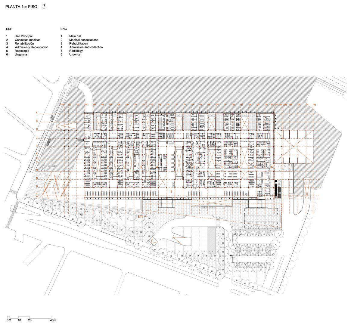 Hospital el carmen de maip arqa for Planta arquitectonica pdf