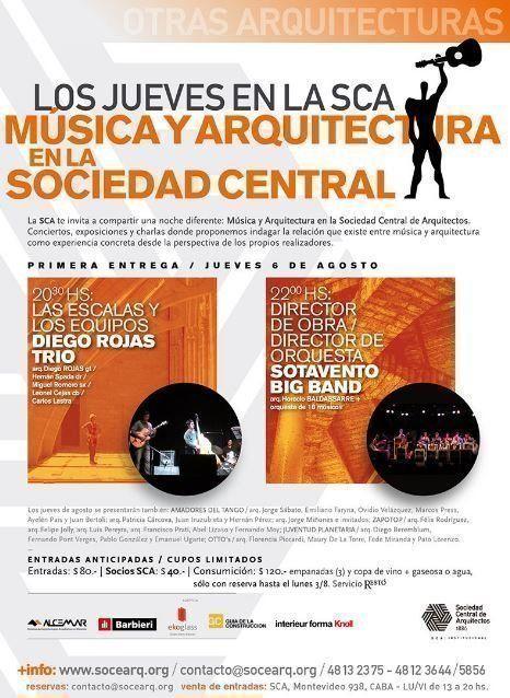 """""""Los jueves en la SCA: Música y Arquitectura en la Sociedad Central"""""""