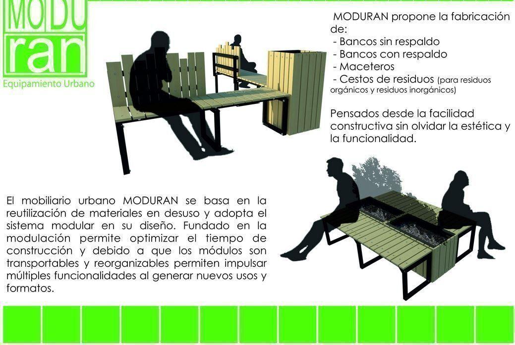 Moduran mobiliario urbano arqa for Diseno industrial mobiliario