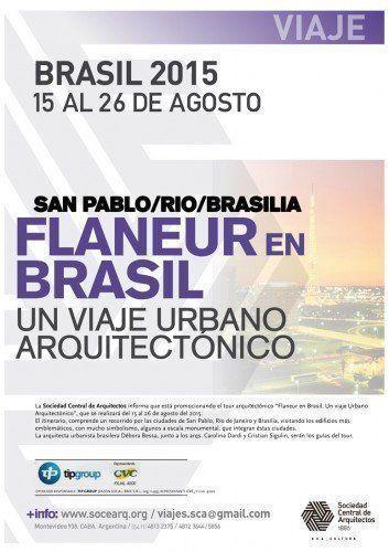 """""""Flaneur en Brasil. Un viaje urbano arquitectónico"""""""