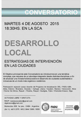 """Conversatorio: """"Estrategias de Intervención en las ciudades. Latinoamérica. Desarrollo Local"""""""