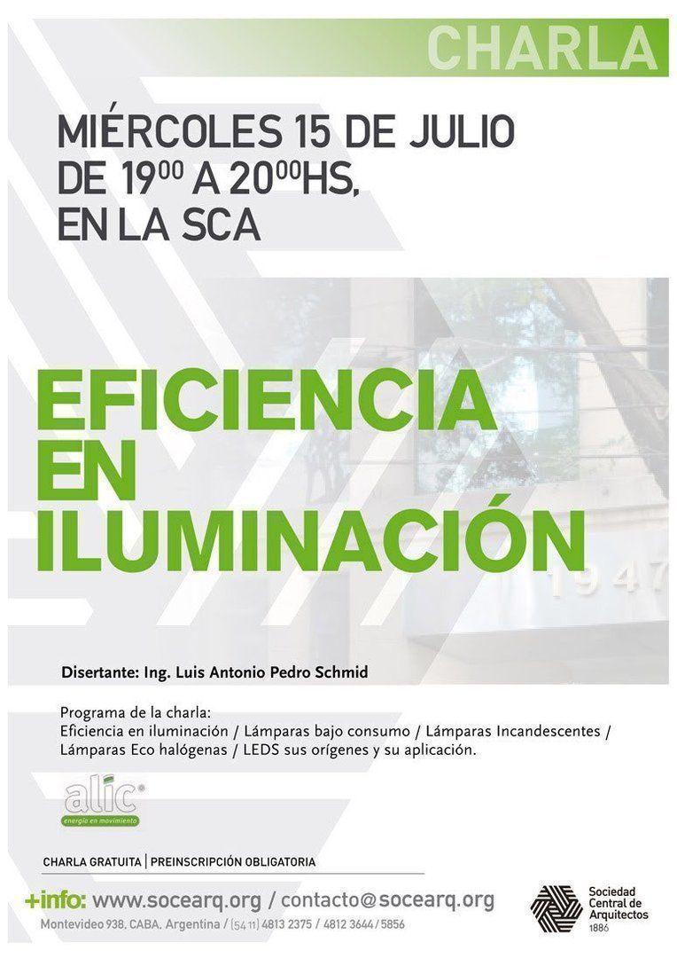 """Charla: """"Eficiencia en Iluminación"""""""