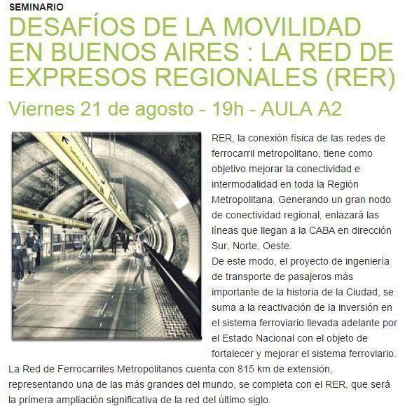 """Seminario: """"Desafíos de la Movilidad en Buenos Aires"""""""