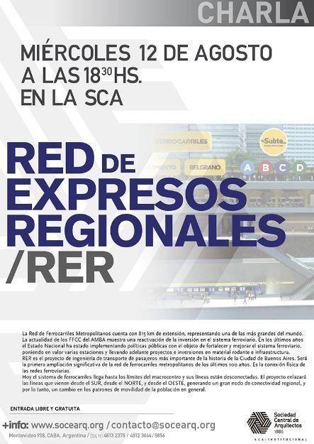 Charla Red de Expresos Regionales – RER