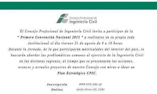 Primera Convención Nacional de Ingenieros Civiles, en el CPIC