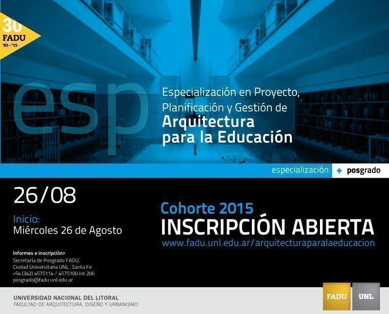 """Posgrado: """"Proyecto, planificación y gestión de arquitectura para la educación"""""""